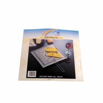 Gratella inox per pane o polenta 25x25 centimetri